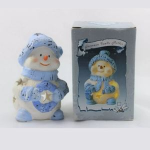 Christmas Collection Snowman candle holder